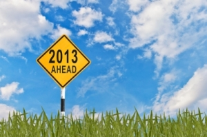 Road Sign to the New Year